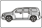 Chevrolet HHR 2007 Vehicle Template