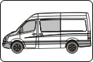 Mercedes Sprinter 2007 Vehicle Template