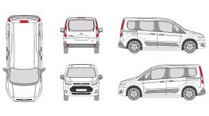Pictures Graphics And Backgrounds For Full Wraps Our Premium Membership Offers More Than Vehicle Templates FORD Transit Connect